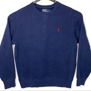 Polo Ralph Lauren CrewNeck Sweatshirt Navy Blue L